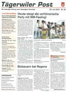Tagerwiler Post Nr°25 - 20 Juni 2014